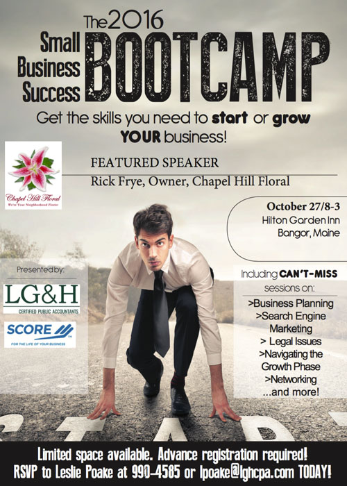 2016 Small Business Success Bootcamp